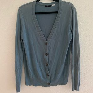 BDG Blue Cardigan Sweater
